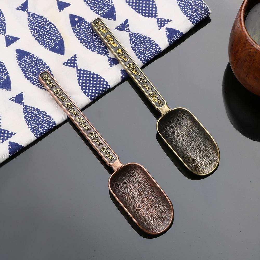 Держатель для чайных листьев NICEYARD чайная лопатка деликатная для китайского чая кунг-фу Ретро стиль медный Совок Кухонные аксессуары