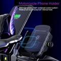 Держатель для телефона мотоцикла Беспроводное зарядное устройство крепление для iPhone 11 8 X Samsung 15W быстрая Беспроводная зарядка мобильный тел...