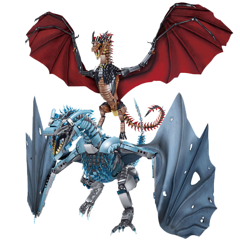 New Thrones Dragon Viserion Mother Black Death Balerion Anime Action Figures DIY Building Blocks Toys For kids Gifts