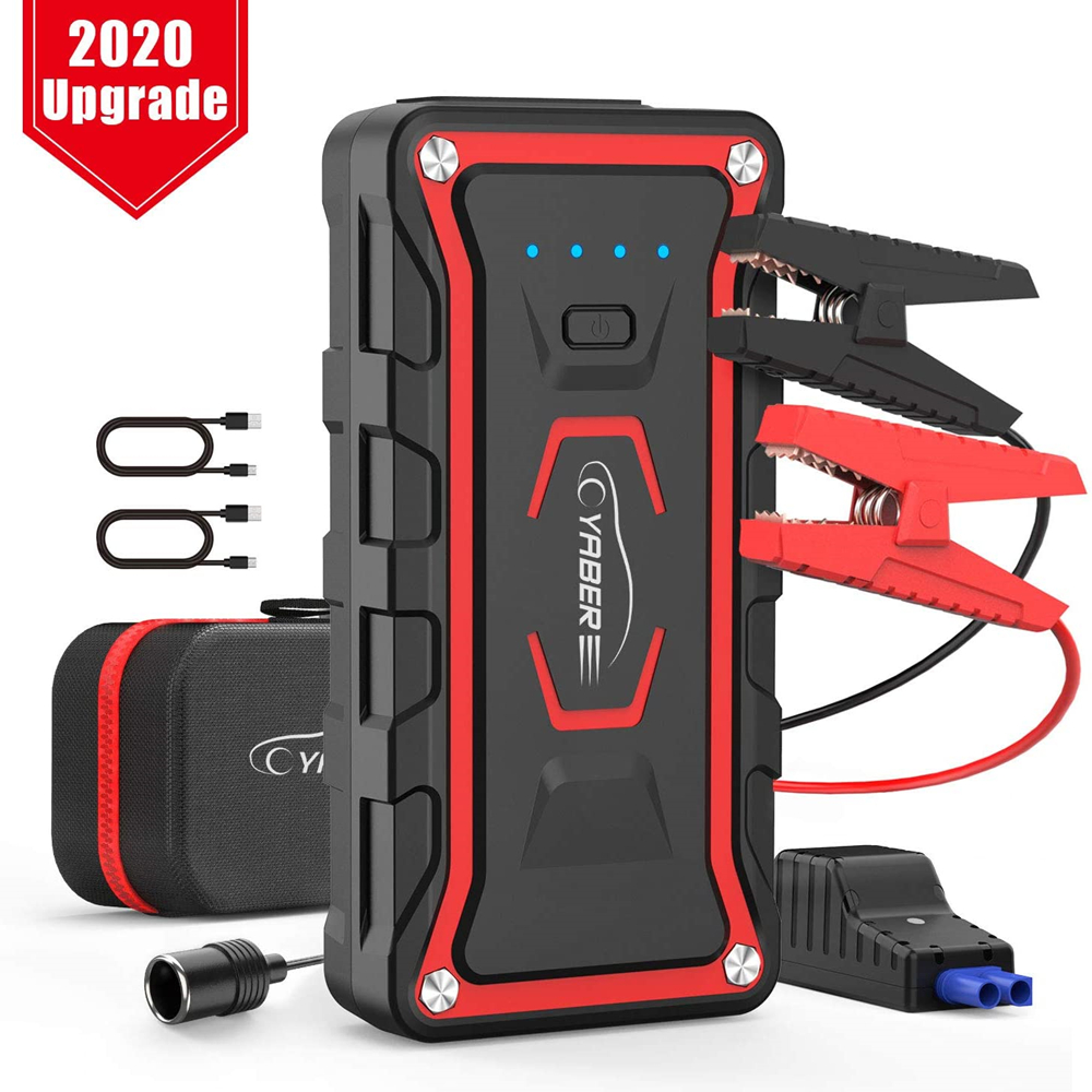 Yaber 20000mAh  Jump Starter Emergency Jump Starter Battery Power Bank Auto Booster Peak Amper 1500A For All Gas And 7L Diesel