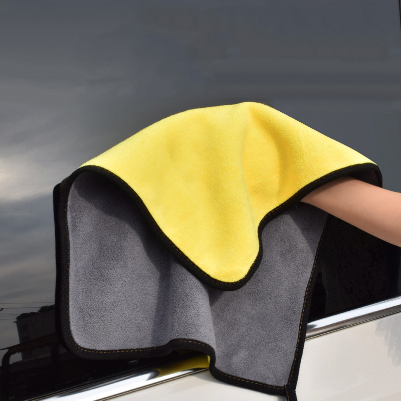 1pc Car Wash Microfiber Towel Car Cleaning Drying Cloth Hemming Car Care Cloth Detailing Car Wash Towel Never Scratch