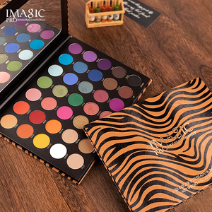 Image 5 - IMAGIC New 35 Color Nude Color Shiny Eye Shadow Palette Color Waterproof Eye Shadow Tray Pigment Pearl Matte Cosmetics