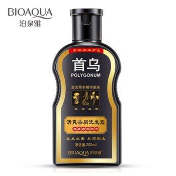 BIOAQUA Polygonum Multiflorum Shampoo Anti-forfora Nutriente Ufa Cinese A Base di Erbe Crescita Dei Capelli di Riparazione Danneggiato Ruvido e Asciutto Capelli 1