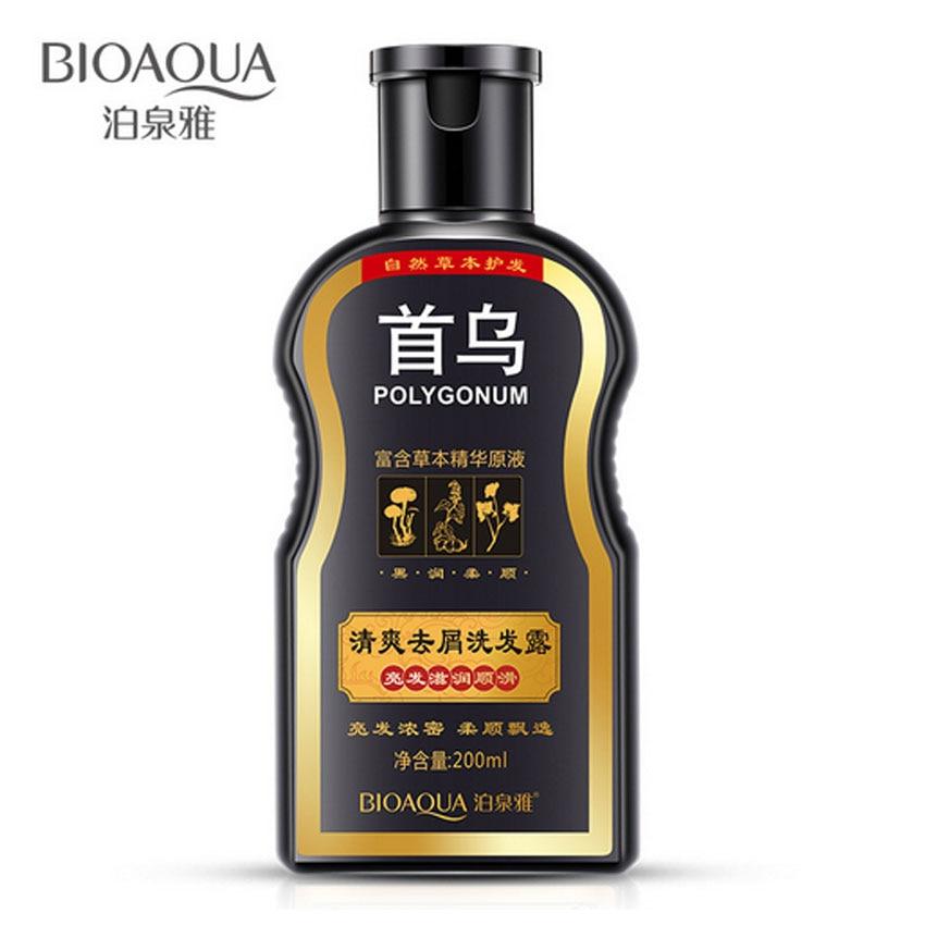 BIOAQUA Polygonum Multiflorum Anti-dandruff Shampoo Nourishing Ufa  Chinese Herbal Hair Growth Repair Damaged Rough Dry Hair