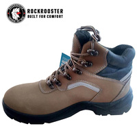ROCKROOSTER Work Boots for Men, EH Anti fatigue Shoes, Steel Toe,Waterproof Leather, Quick Dry, Breathable, Coolmax, DP X