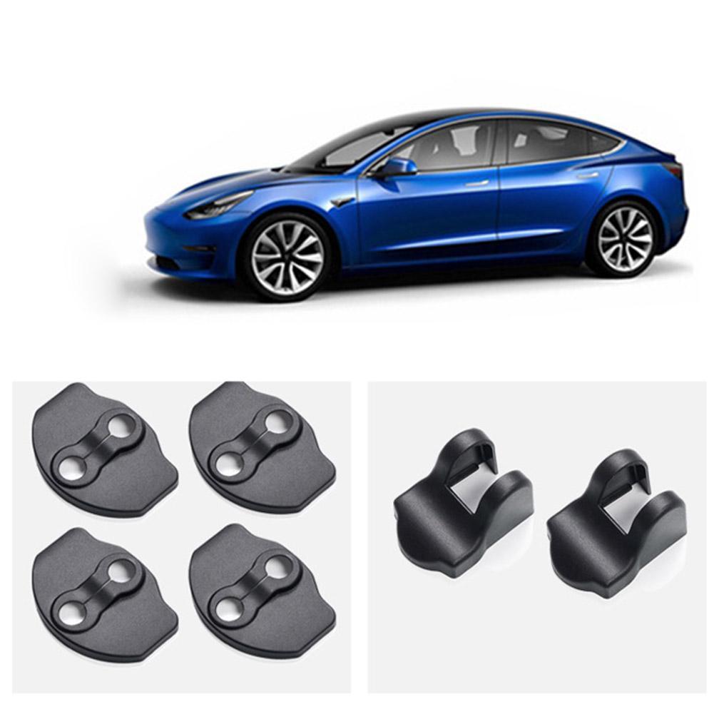 Car Door Lock Cover For Tesla Model 3 Car Door Lock Cover ABS Protection Covers Door Rustproof Stopper Covers Car Accessories