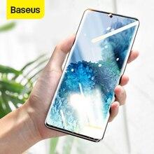 Baseus 2 adet UV temperli cam Samsung Galaxy S20 ekran koruyucu tam kavisli koruyucu cam için Galaxy S20 artı ultra