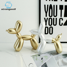 Strongwell Balloon Dog Sculpture Resin Crafts Home Decorations Gifts Fashion Cake Baking Party Dessert Desktop Ornament Cute