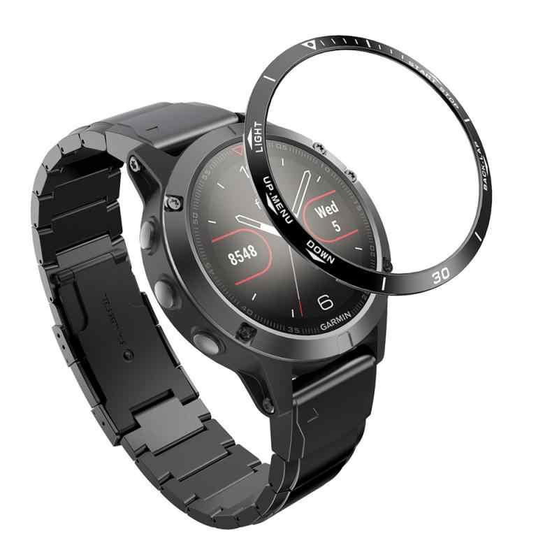 Untuk Garmin Fenix 5 Jam Tangan Stiker Anti-Gores Watch Bezel Stainless Steel Cincin Ukiran Waktu Cincin Baja