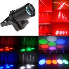 Thrisdar 5W LED très brillante faisceau Pinspot lumière Disco miroir boules projecteur effet de scène lumière pour KTV DJ fête de mariage