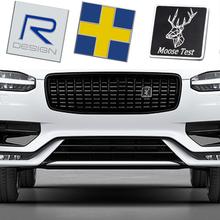 Na kratkę samochodową naklejki Grille przednie naklejki dla VOLVO XC60 XC90 XC40 XC70 S90 S80 S70 S60 S40 V40 V60 V90 T4 T5 T6 T8 Volvo naklejki tanie tanio DE (pochodzenie) Pojazd logo Klej naklejki 3 3cm 8 7cm Words Stop metali Kreatywne naklejki 3 9cm Jest dostarczana Car Trunk Sticker For Volvo