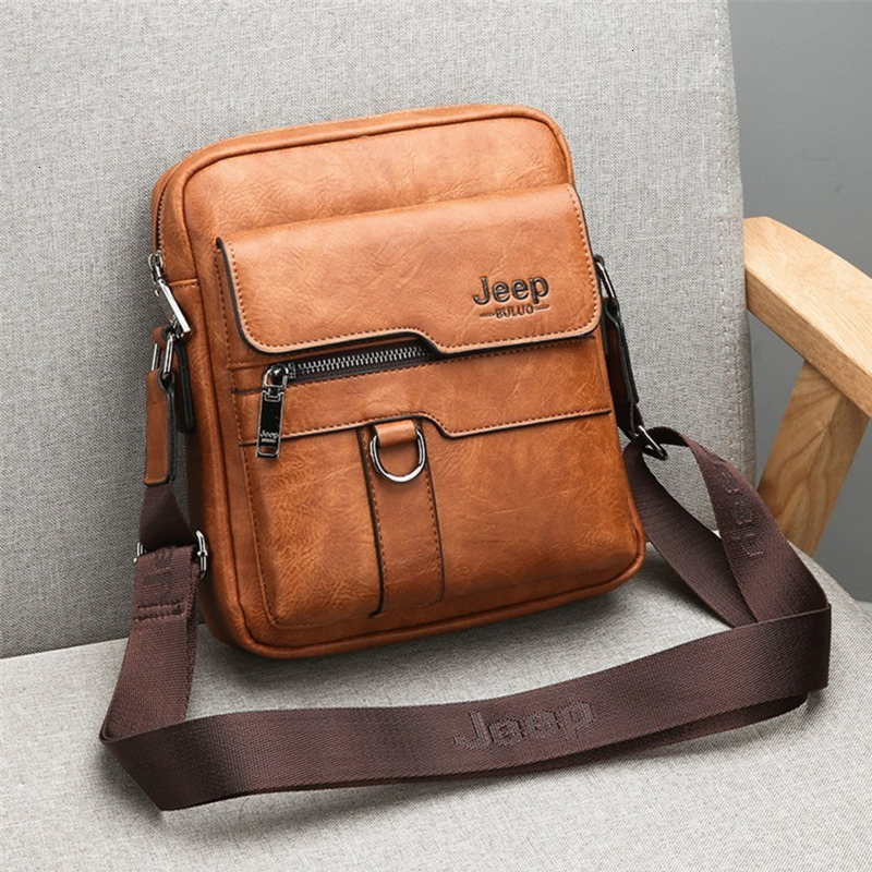 Men's Messenger Bags Men Leather Shoulder Bags For IPAD Mini 9.7