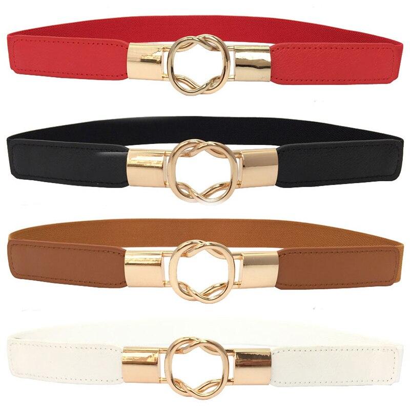 Fashion Women's Silm Belt Elastic Stretch Cinch Waistband Lady Cummerband Plus Size Girls Waistband Waist Seal Wide Belt Women