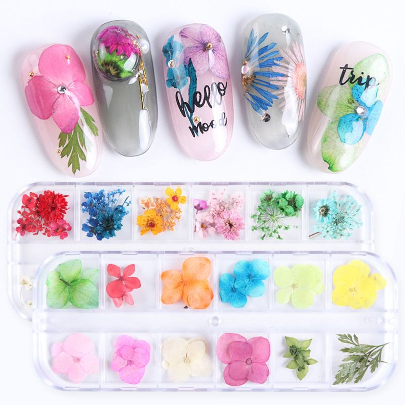 12 Grid/Box Crystal Epoxy Filler Dry Flower Handmade DIY Craft Silicone Molds UV Resin Filling Material Decoration Accessories