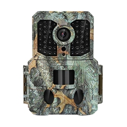 Top Trail Camera,16Mp 1080P Waterproof Wildlife Scouting Hunting Camera with 130°Wide Angle Lens,0.2S Trigger Speed,2.4 inch Lcd