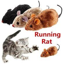 1Pc Engraçado Realista Rato de Brinquedo De Pelúcia Do Rato Correndo para Gatos Cães Cauda Do Rato Animais de Estimação Crianças Cor Aleatória