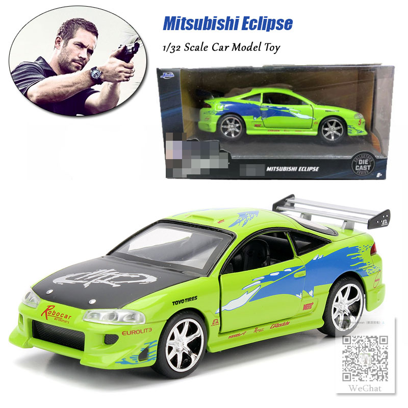 JADA 1/32 Scale Car Model Toys 1995 Mitsubishi Eclipse Diecast Metal Car Model Toy For Gift,Kids,Collection