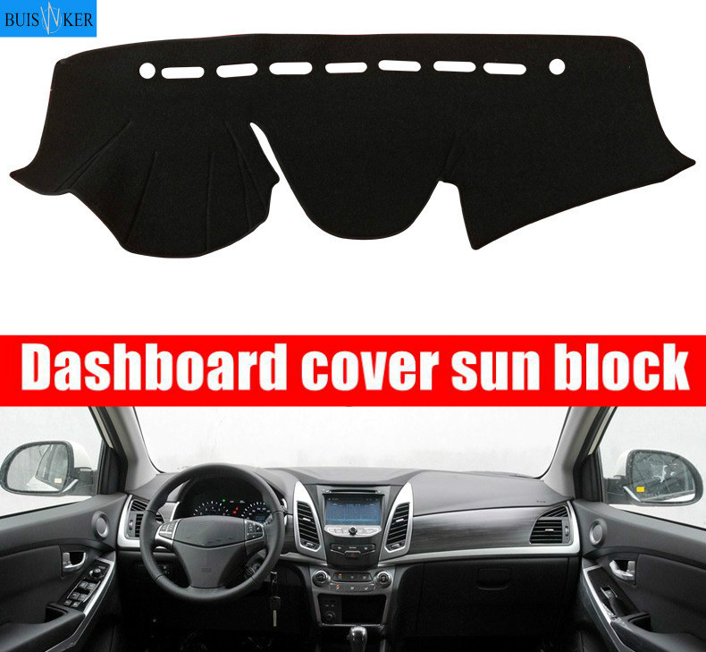 Car Dashboard Cover Dashmat For Ssangyong Korando 2014 2015 Automobile Dash Mat Sun Shade Pad Carpet Dash Board Cover image
