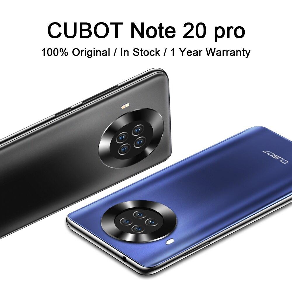 CUBOT Note 20 Pro смартфон сзади Quad Камера 4200 мА/ч, Батарея телефон NFC Android 10 с двумя сим-картами 4 аппарат не привязан к оператору сотовой связи 6,5 ″ HD ...