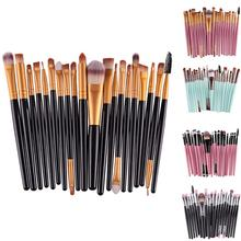 20Pcs Professional Beginners Makeup Brushes for Eyebrow Eyeshadow Beauty