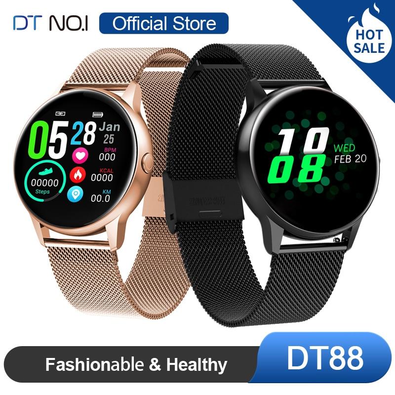 DT n. ° 1 DT88 reloj inteligente con pantalla táctil redonda reloj inteligente con ritmo cardíaco, rastreador inteligente de Fitness, reloj de moda deportivo, hombres y mujeres Reloj inteligente I5 para mujeres/hombres Monitor de ritmo cardíaco Seguimiento de la presión arterial Bluetooth reloj inteligente para mujeres para Apple Watch Andriod