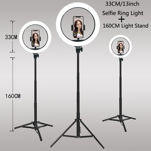 33CM 20 26CM Video Light Dimmable LED Selfie Ring Light USB ring lamp Photography Light With Tripod Stand To Make TikTok Youtube