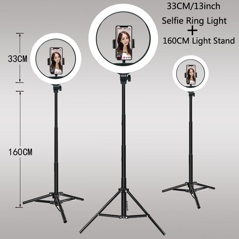 וידאו אורות Dimmable אור Selfie LED טבעת אור USB טבעת מנורת עם חצובה Stand שפה של אור כדי להפוך TikTok youtube ringlight