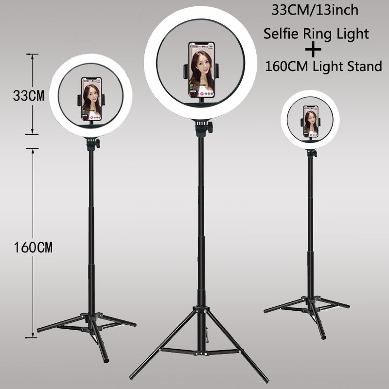 Video Lights Dimmable Light Selfie LED Ring Light USB Ring Lamp With Tripod Stand Rim Of Home v7 VC