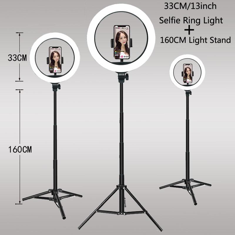 Luces de vídeo regulables para selfis, Anillo de luz LED, lámpara de anillo USB con soporte de trípode, llanta de luz para hacer TikTok, Youtube