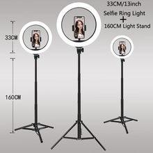 Luzes de vídeo pode ser escurecido luz selfie led anel luz usb lâmpada com tripé suporte aro de luz para fazer tiktok youtube ringlight