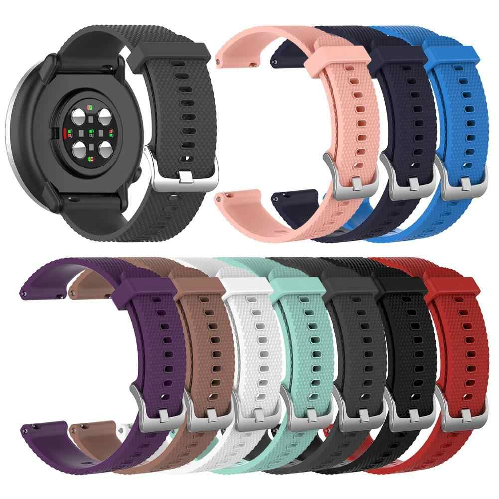 20 Mm Silikon Butir Adjustable Watch Tali Band untuk Polar Ignite