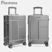 Piaoruxu 20 #8243 26 #8243 29 #8243 100 Aluminium alloy travelling trolly bags suitcase spinner hardcase luggage cheap Aluminum 4 4-6 1kg 56-77 cm Rolling Luggage 22-30cm 38-50cm PRX1128 Unisex