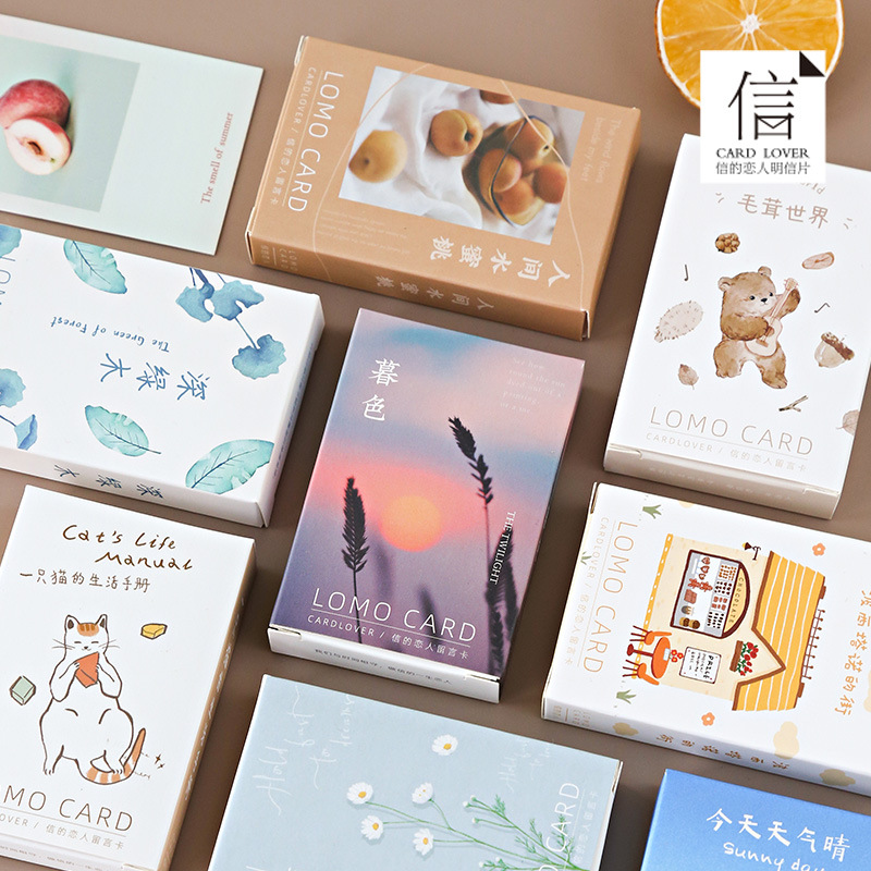 28Sheets/Set Hairy world Cat's Life Handbook Lomo Card Mini Postcard/Greeting Card/Christmas Gift Card