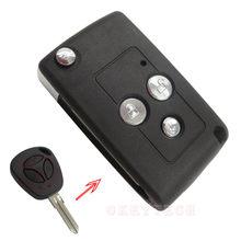 Okeytech 3 botões modificado flip dobrável substituição escudo da chave do carro para lada remoto caso capa fob design em branco remoto chave modificar
