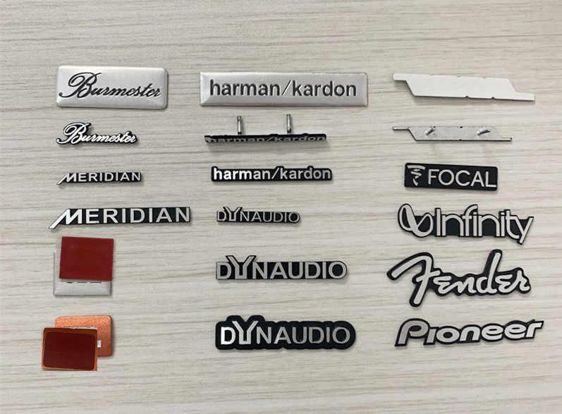 ¡5X aluminio para Dynaudio! Jbl-altavoz de audio FOCAL harman/kardon, defensa de meridianos, Hi-Fi, insignia de altavoz, emblema estéreo, pegatina stying