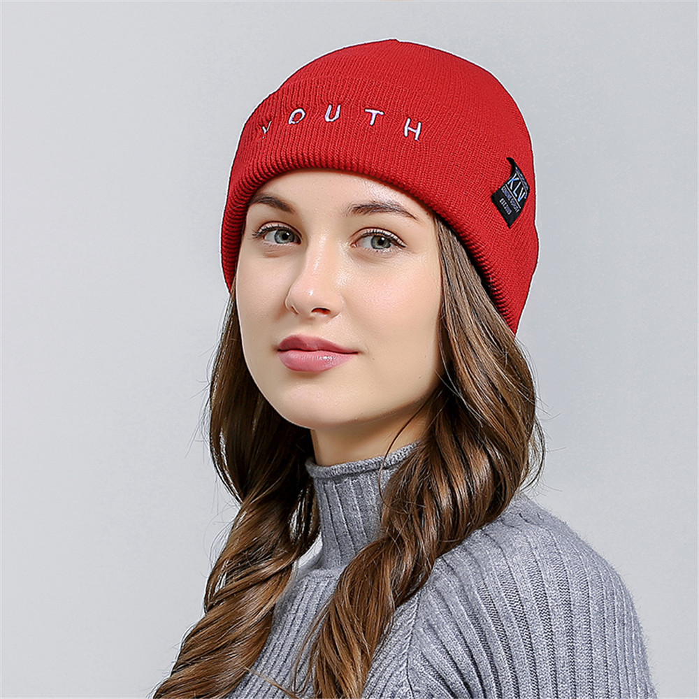 Zerotime #H5 2019 NEW  Letter Embroidered Men Women Baggy Wool Knit Ski Beanie Hat кепка шапка Warm Daily Autumn Free Shipping