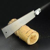 Lâmina de borda dupla serra estilo japonês puxar viu dentes por precisão serra à mão para tenon ferramentas para trabalhar madeira|Serra|Ferramenta -