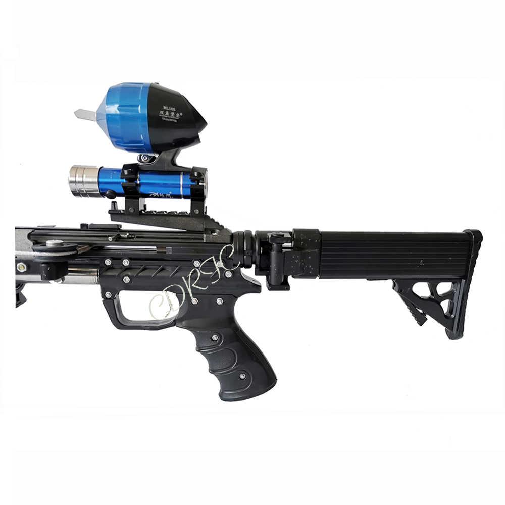 Neptune 17 lance-pierre à fusil catapulte de chasse lance-pierre en acier inoxydable puissant pour la chasse et le tir flèches d'utilisation semi-automatique & 40BB