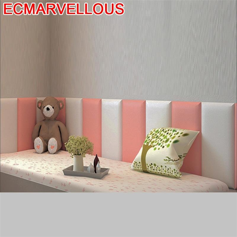 Head Board Bois Furniture Coussin Cabecera Cabezero Children 3D Wall Sticker Tete Lit De Cabecero Cama Bed Cabeceira Headboard