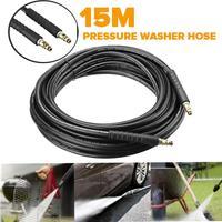 15 m tubo de água mais limpo de alta pressão para karcher k série k2 k3 k4 k5 k7 mangueira de alta pressão da arruela máquina lavar carro mangueira
