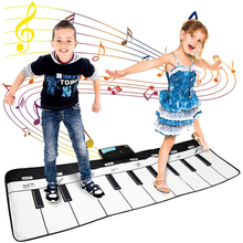 110x36cm Electronic Musical Mat Carpets Keyboard Baby Piano Play Mat Toy Musical Instrument Music Toys Educational Toys for Kids