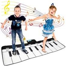 Tapete electrónico de 110x36cm tapete Musical, teclado, Piano para bebé, tapete de juego, instrumento Musical, juguetes musicales, juguetes educativos para niños