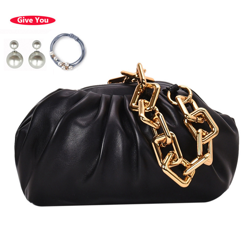 Luxury Handbags Women Bags Designer Dumpling Package PU Leather Ladies Shoulder Bag Fashion Evening Clutch Purses Chain Tote Bag