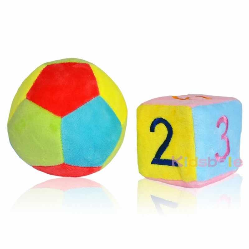 Infantil Sơ Sinh Đồ Chơi Cho Bé 0-12 Tháng Vải Mềm Cũi Nhiều Màu Sắc Cube Bóng Lục Lạc Cho Bé Handbell Đồ Chơi Thú Vị Cho trẻ em