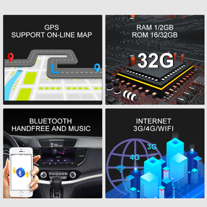 Image 3 - HONDA/CRV/CR V 용 idar r 자동차 라디오 2012 2016 2 din Android 9 Autoradio 멀티미디어 GPS DVR 카메라 RAM 2GB ROM 32GB USB 라디오 IPS