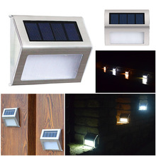 1/4Pcs LED Solar Light Stainless Steel Stair Lamps Garden Solar Motion Control LED Light Outdoor Pathway Street Night Light