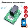 SONOFF RE5V1C Wifi релейный модуль 5 В DIY Переключатель сухой контакт выход инчинг/Selflock режимы работы приложение/LAN/Голосовое управление Умный дом