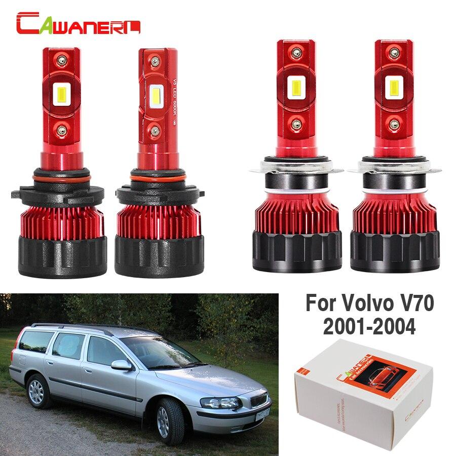 Volvo S60 MK1 55w Super White Xenon HID High//Low//Side Headlight Bulbs Set