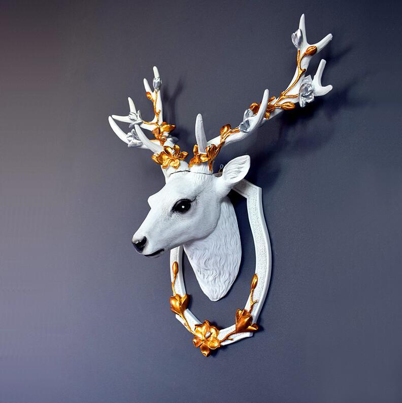 Europese Lucky Hars Herten Hoofd 3D Muursticker Muurschilderingen Decoratie Thuis Woonkamer Achtergrond Muur Ambachten Hotel Muur Ornamenten Art - 2