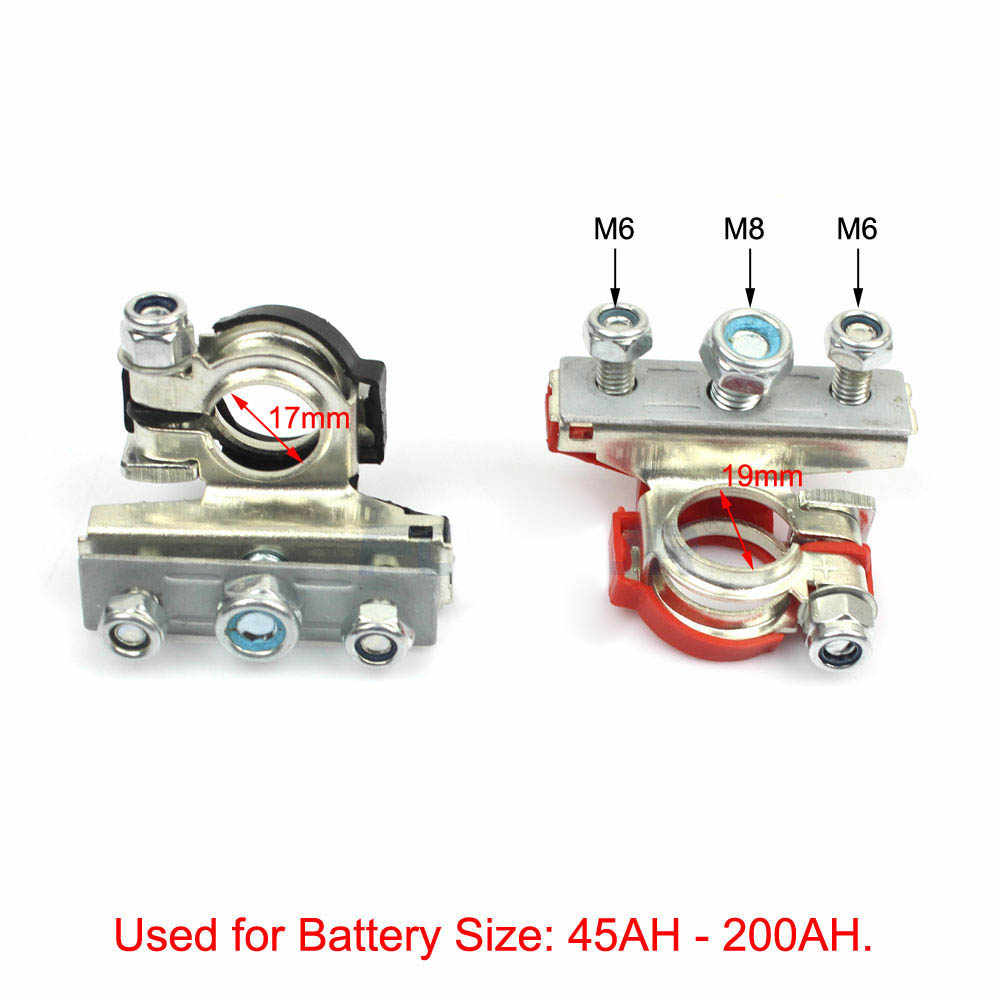 bornes de batterie de d/égagement rapide de batterie 12V pinces de batterie Clips de batterie n/égatif positif de borne principale d/étachable pour voiture Asudaro 2 pinces rapides de batterie de PCS